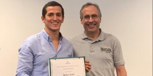 Jose Carlo Cuadros de Aru Learning, emprendimiento incubado en Hub UDEP, en Babson College