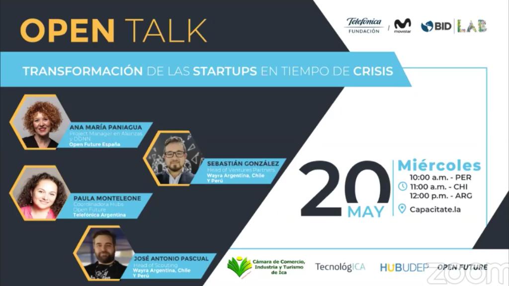 Open Talk: Transformación de las startups en tiempos de crisis